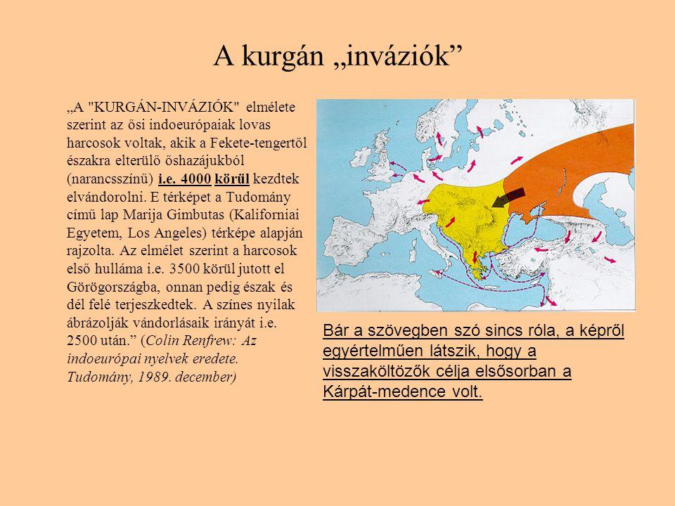 """A kurgán """"inváziók"""" """"A"""