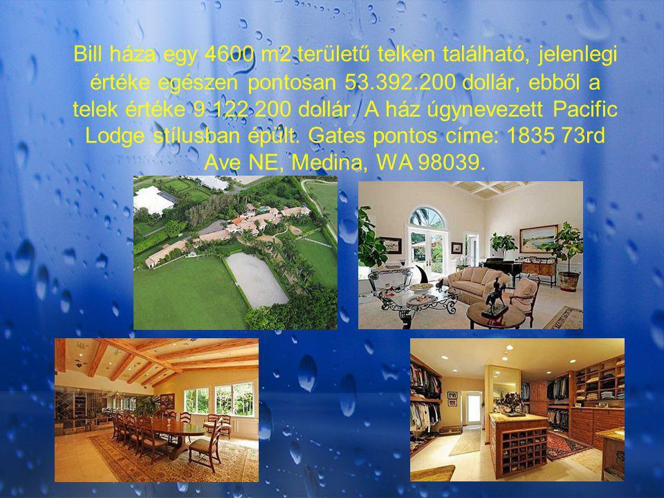 Bill háza egy 4600 m2 területű telken található, jelenlegi értéke egészen pontosan 53.392.200 dollár, ebből a telek értéke 9 122 200 dollár. A ház úgy