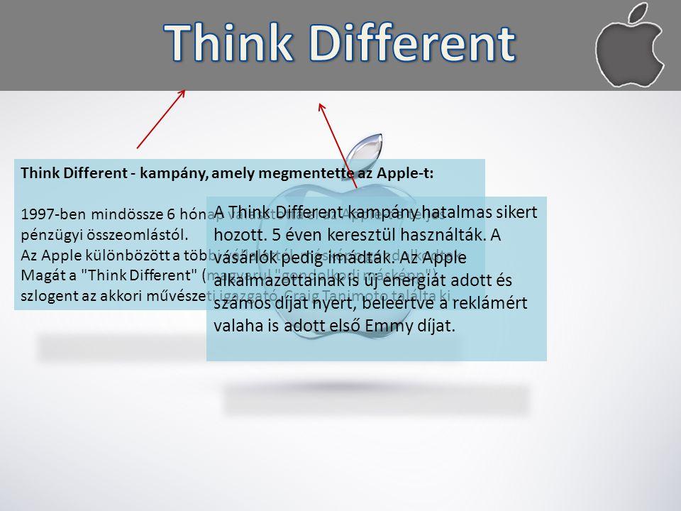 Think Different - kampány, amely megmentette az Apple-t: 1997-ben mindössze 6 hónap választotta el az Apple-t a teljes pénzügyi összeomlástól.