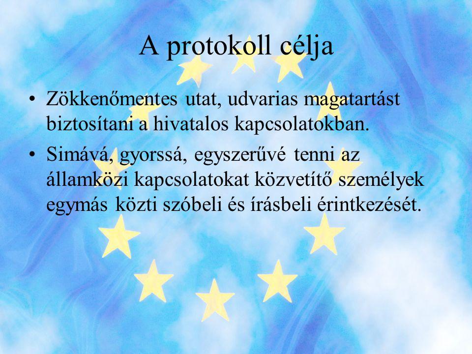 A protokoll fő funkciói •Biztosítani az emberek közötti kapcsolatteremtés és kapcsolattartás lehetőségét.