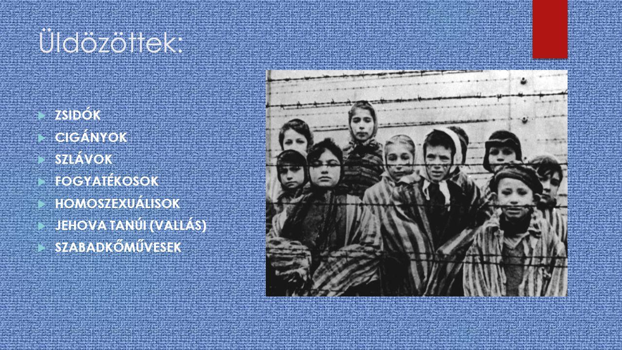 ZSIDÓK Az antiszemitizmus valamennyi hagyományos eszköze (rémhírek terjesztése, gettók felállítása, a zsidók jogi és emberi diszkriminációja, gazdasági szerepük teljes megszüntetése) mellett iparszerű és tervszerű megsemmisítésükre törekedett.