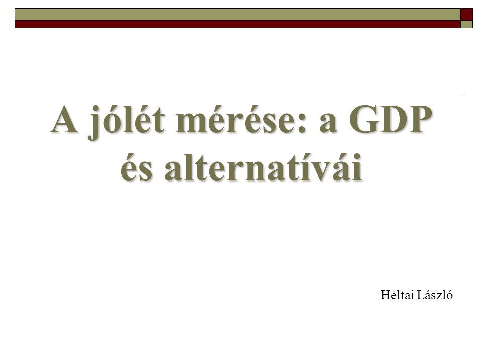 A jólét mérése: a GDP és alternatívái Heltai László