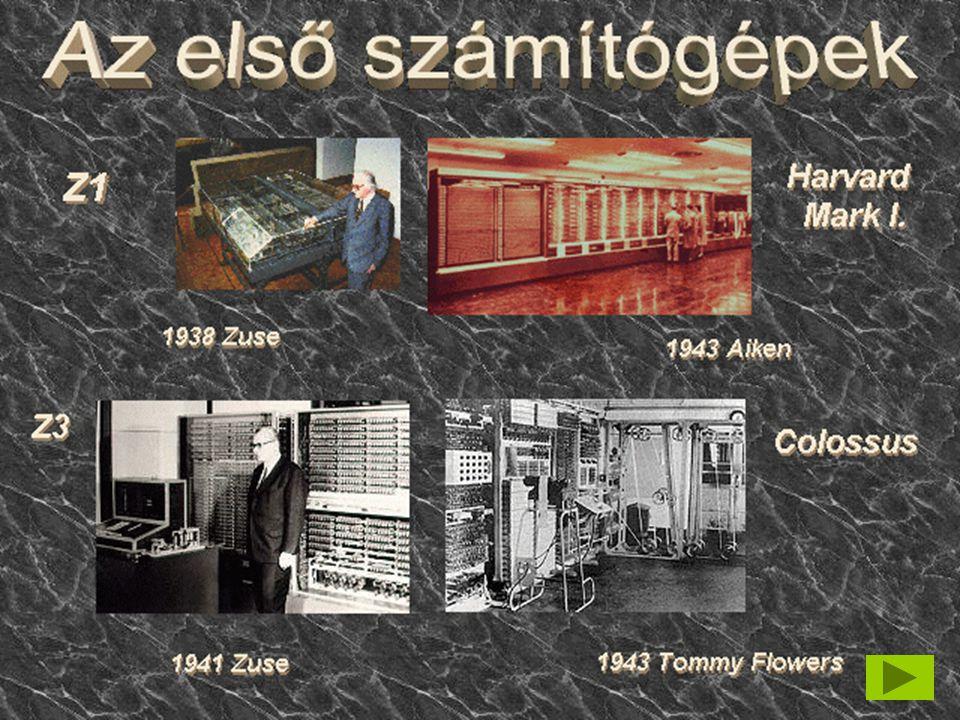 Első generáció  elektroncsöves EniacEniac (1945) Eniac  Alapterülete 180 nm  teljesítménye 140 kW  Elektroncsövek 17000 db  átlagosan 10 percenként égett ki cső