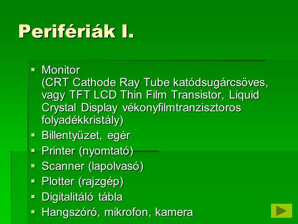 Perifériák II.