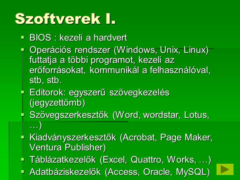 Szoftverek II.