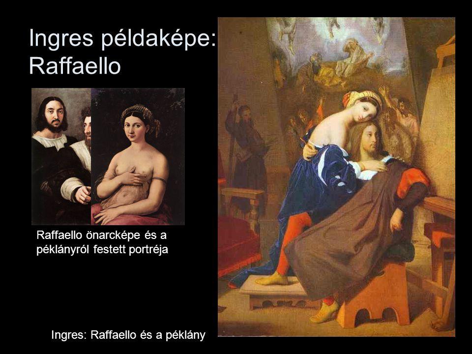 Ingres példaképe: Raffaello Ingres: Raffaello és a péklány Raffaello önarcképe és a péklányról festett portréja