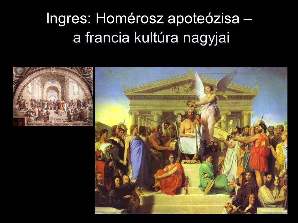 Ingres: Homérosz apoteózisa – a francia kultúra nagyjai