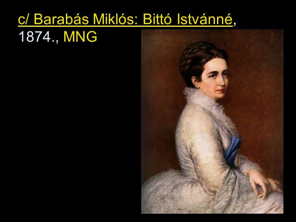 c/ Barabás Miklós: Bittó Istvánné, 1874., MNG