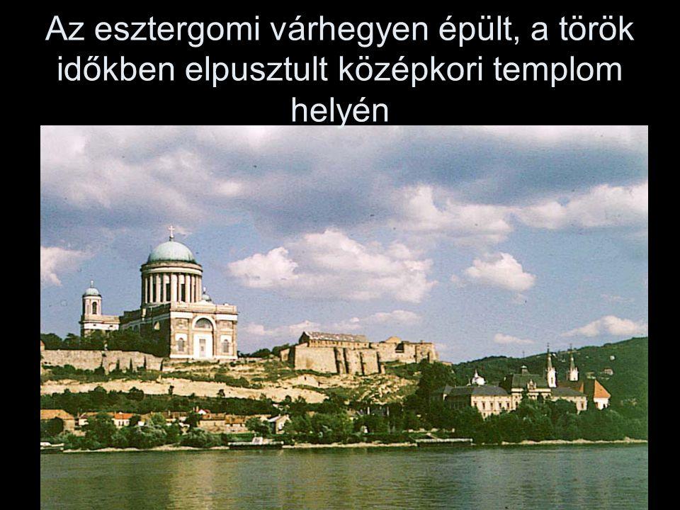 Az esztergomi várhegyen épült, a török időkben elpusztult középkori templom helyén