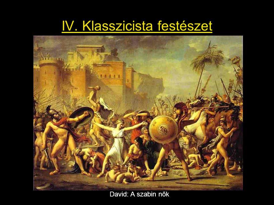 IV. Klasszicista festészet David: A szabin nők