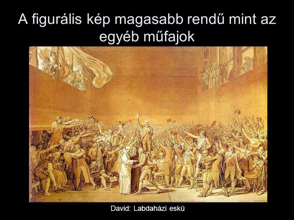 A figurális kép magasabb rendű mint az egyéb műfajok David: Labdaházi eskü
