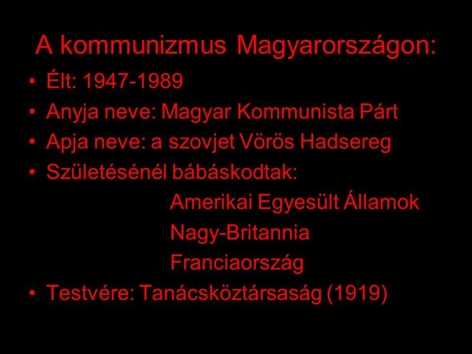 A kommunizmus áldozatai: •Ha összeadjuk a kommunista rendszer (szovjet, kínai, kelet-európai, észak-koreai, afganisztáni, kambodzsai és vietnámi) vala
