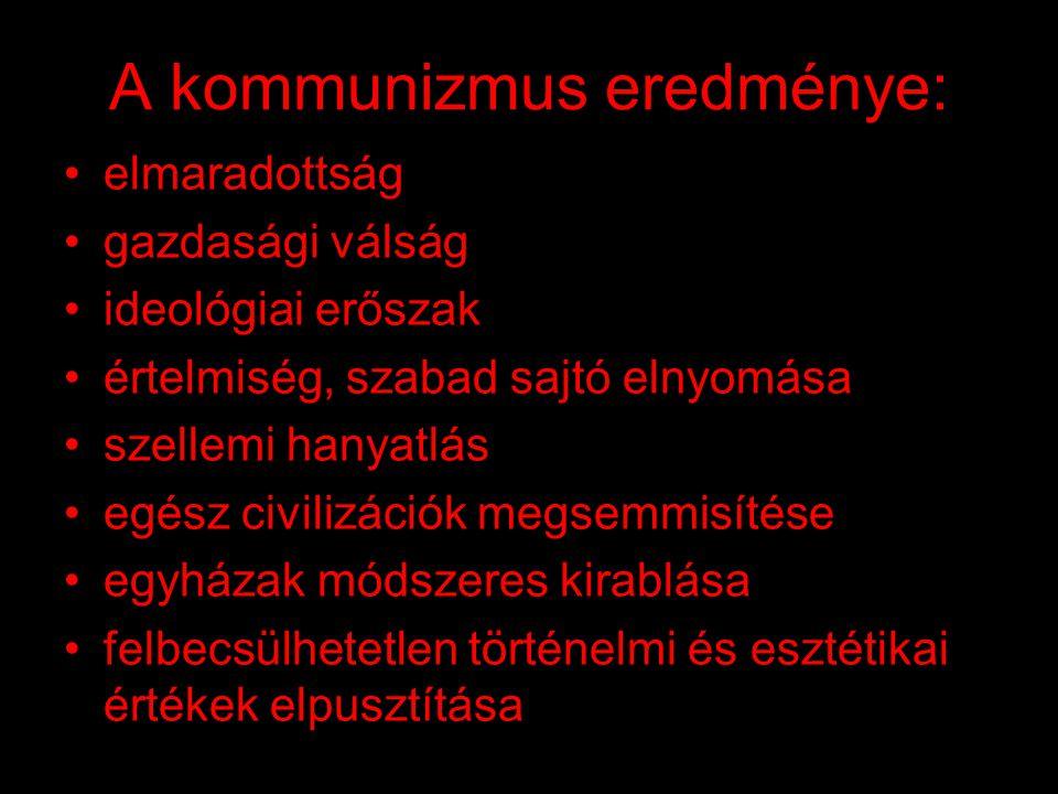 A kommunizmus hóhérai: •Sztálin •Trockij •Berija •Mao Ce-tung •Pol Pot •Ceausescu •Kim Ir Szen •...