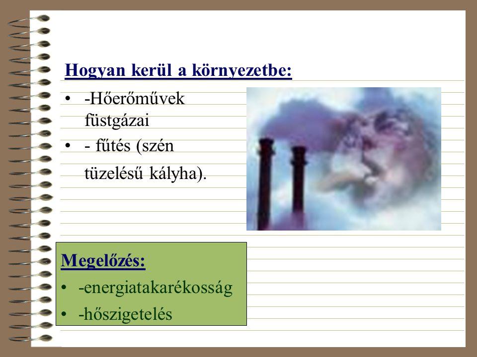 Kén-dioxid (SO 2 ) •kén és kéntartalmú anyagok égésekor keletkezik •-színtelen, szúrósszagú, mérgező gáz Felelős: •-a téli (Londoni típusú) szmog kial
