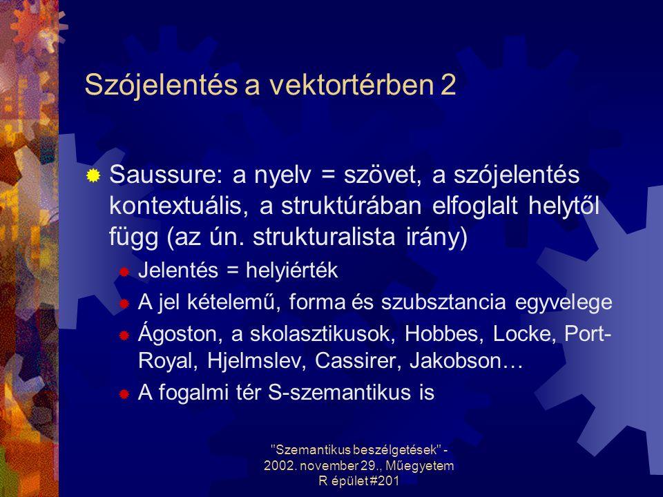 Szemantikus beszélgetések - 2002. november 29., Műegyetem R épület #201