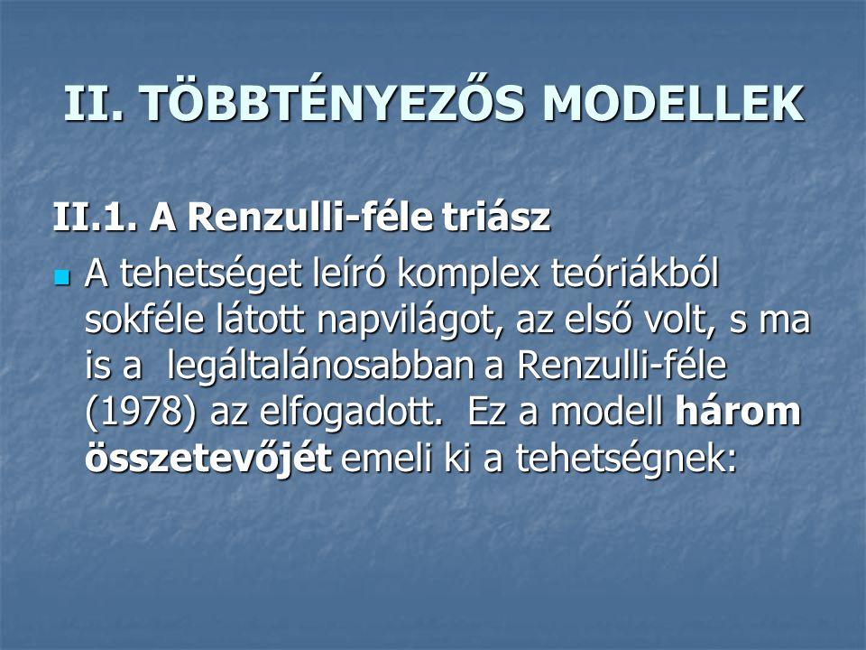 II.TÖBBTÉNYEZŐS MODELLEK II.1.