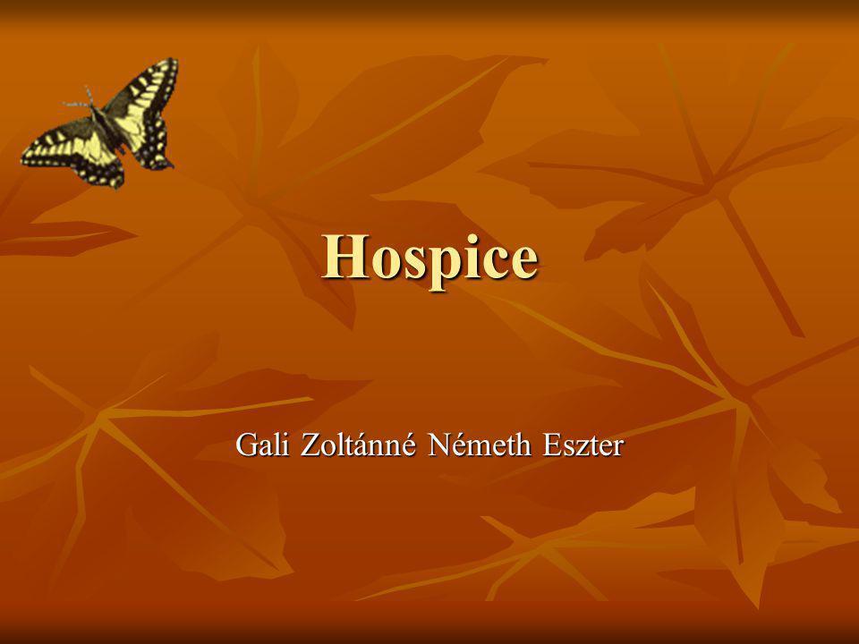Hospice Gali Zoltánné Németh Eszter