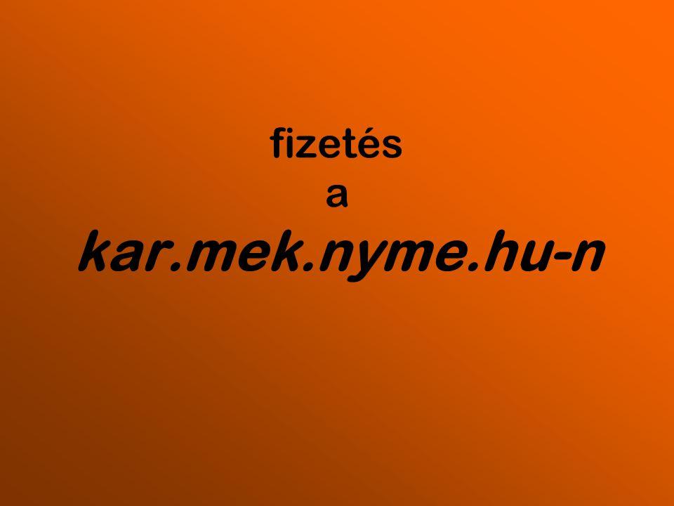 """kar.mek.nyme.hu - bejelentkez ő oldal – """"2013-2014-es év honlapra kell menni"""