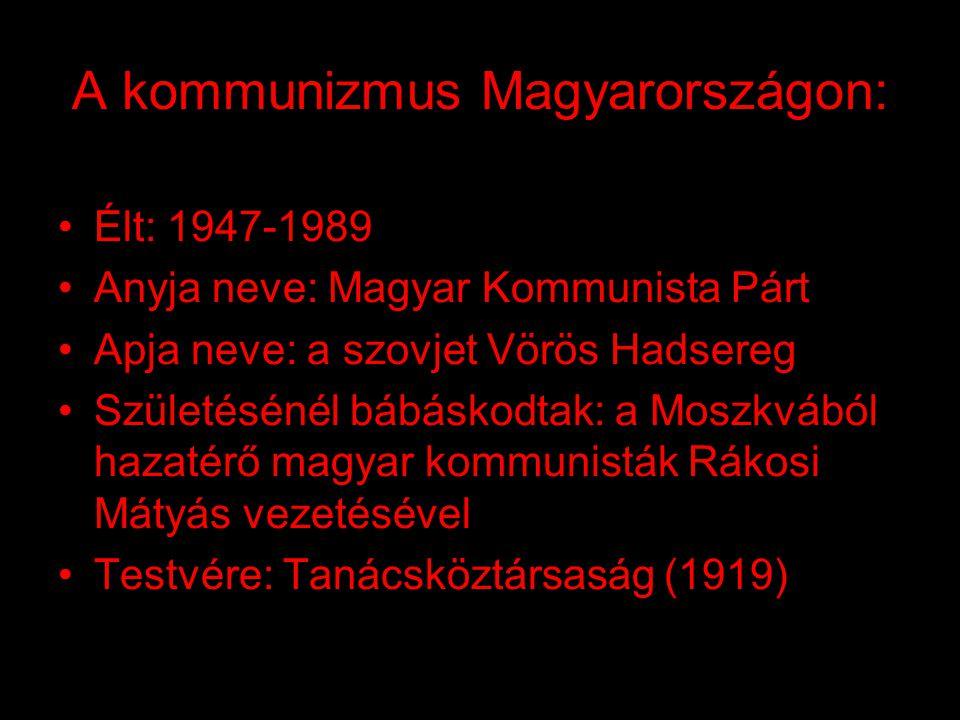 A kommunizmus áldozatai: •Ha összeadjuk a kommunista rendszer (szovjet, kínai, kelet-európai, észak-koreai, afganisztáni, kambodzsai, vietnámi) valame