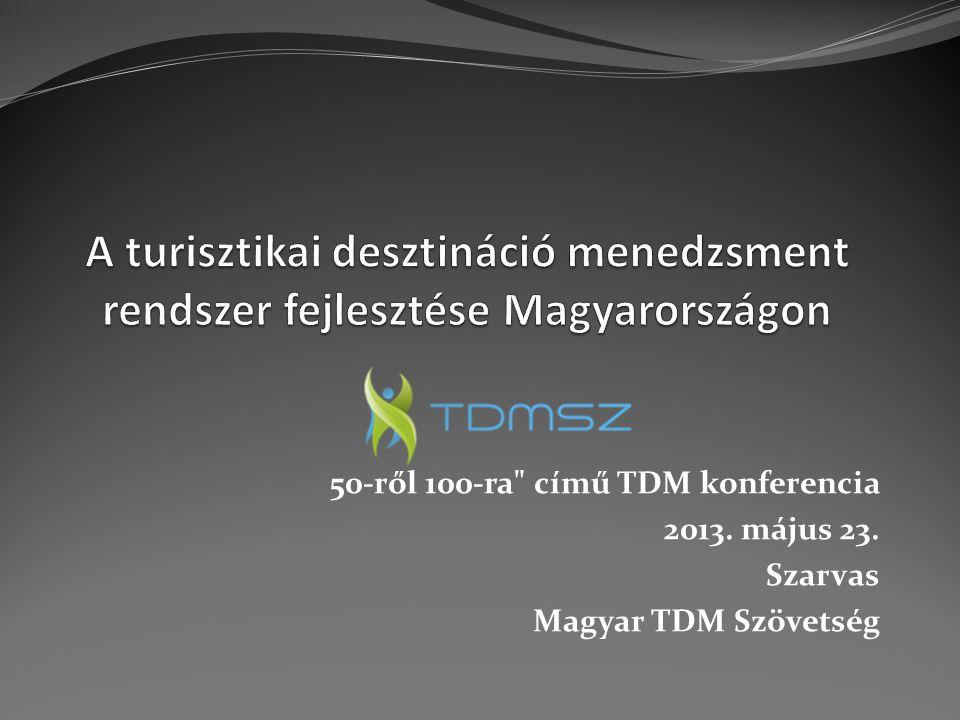 TDM szervezetek TDM pályázati projektösszeg szerinti megoszlása 2009-2013.