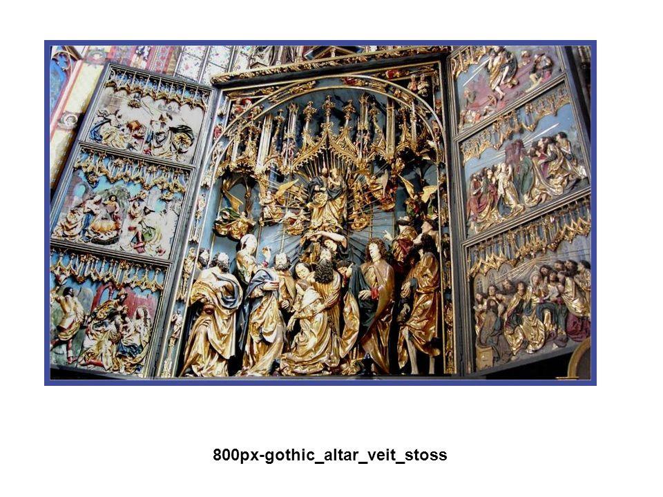 Gótikus művészet A XII. sz.-ban a francia királyok egyre erősödő központi hatalmat alakított ki. VI. és VII. Lajos, majd Fülöp 800px-gothic_altar_veit
