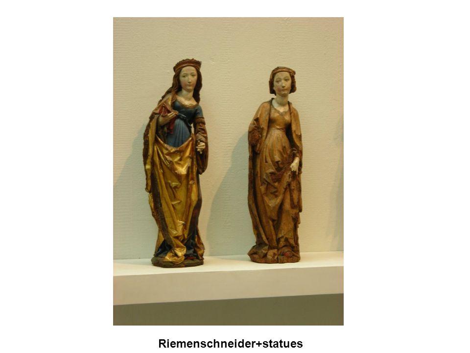 Gótikus művészet A XII. sz.-ban a francia királyok egyre erősödő központi hatalmat alakított ki. VI. és VII. Lajos, majd Fülöp Riemenschneider+statues