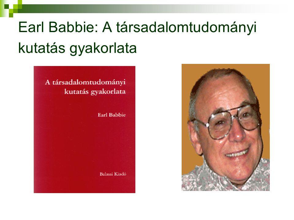 Earl Babbie: A társadalomtudományi kutatás gyakorlata