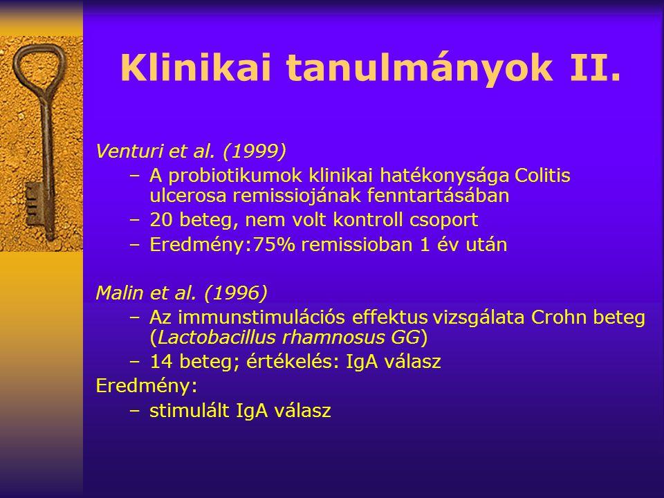 Klinikai tanulmányok II.Venturi et al.