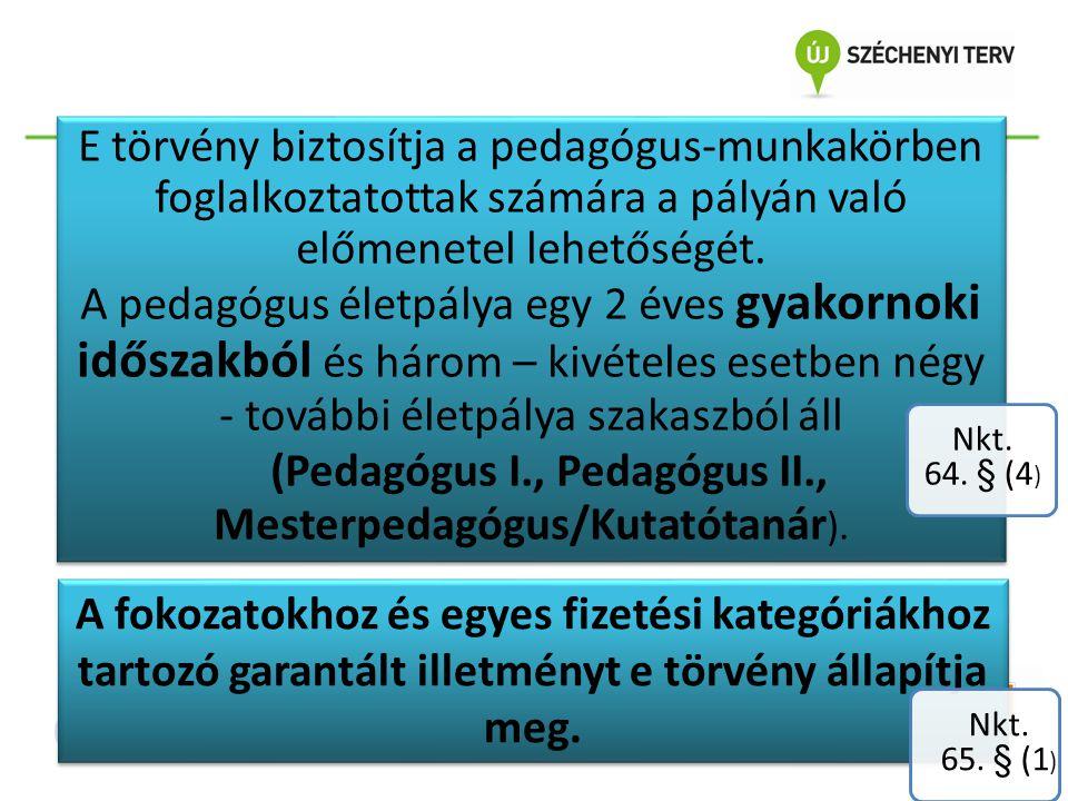 (1) Ha a Pedagógus I.