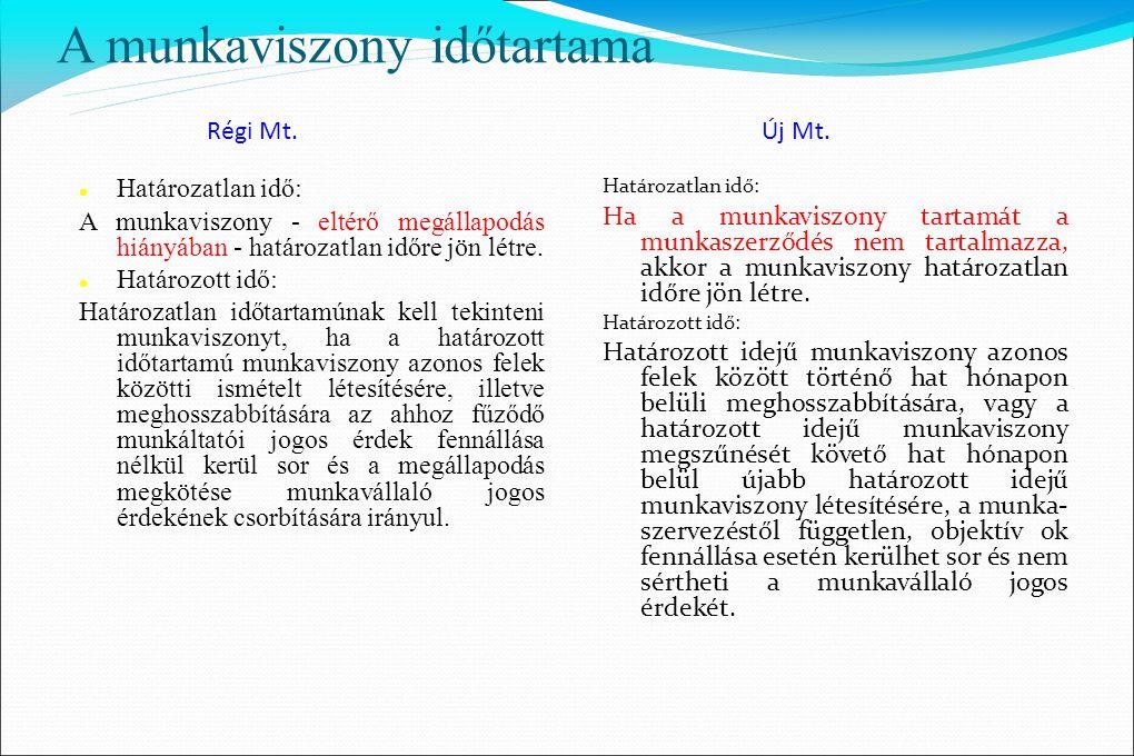 Bérpótlékok Régi Mt.146. § Új Mt. 139. § Számítási alap a munkavállaló személyi alapbére.