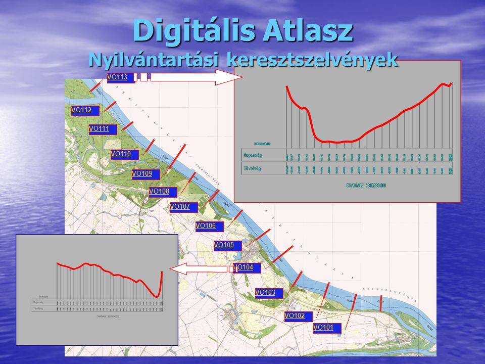 VO101 VO113 VO110 VO111 VO112 VO106 VO105 VO104 VO103 VO102 VO109 VO108 VO107 Digitális Atlasz Nyilvántartási keresztszelvények