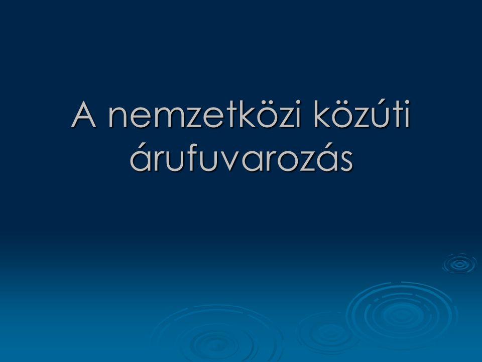 Bilaterális megállapodások Kétoldalú megállapodások Rögzítik a kölcsönös együttműködés szabályait  Továbbá szabályozzák a fuvarozási engedélyek kiadását.