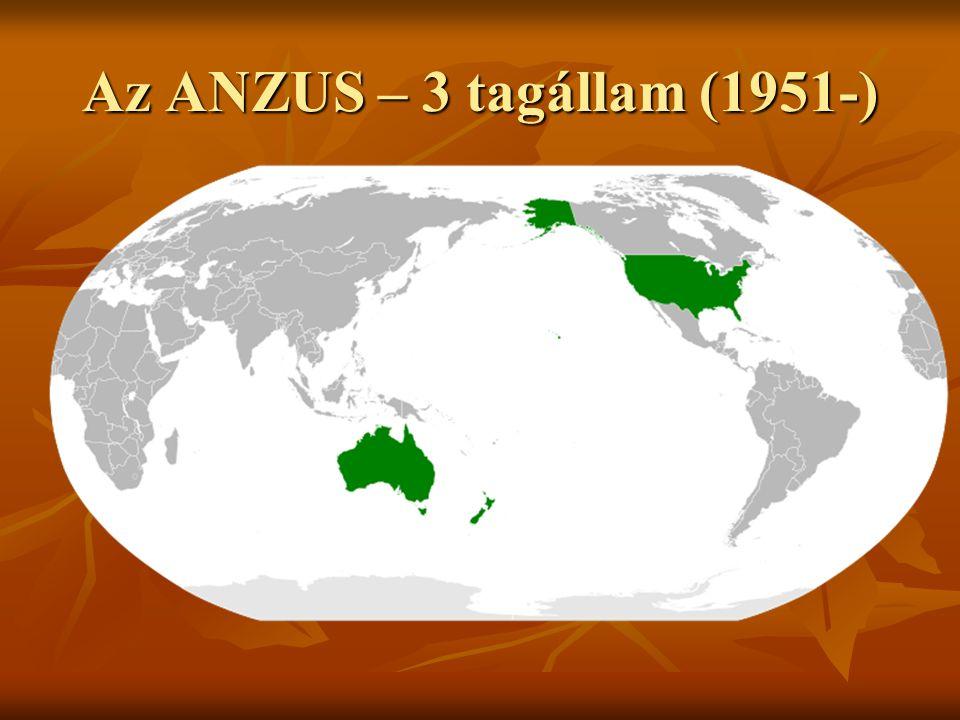 Az ANZUS – 3 tagállam (1951-)