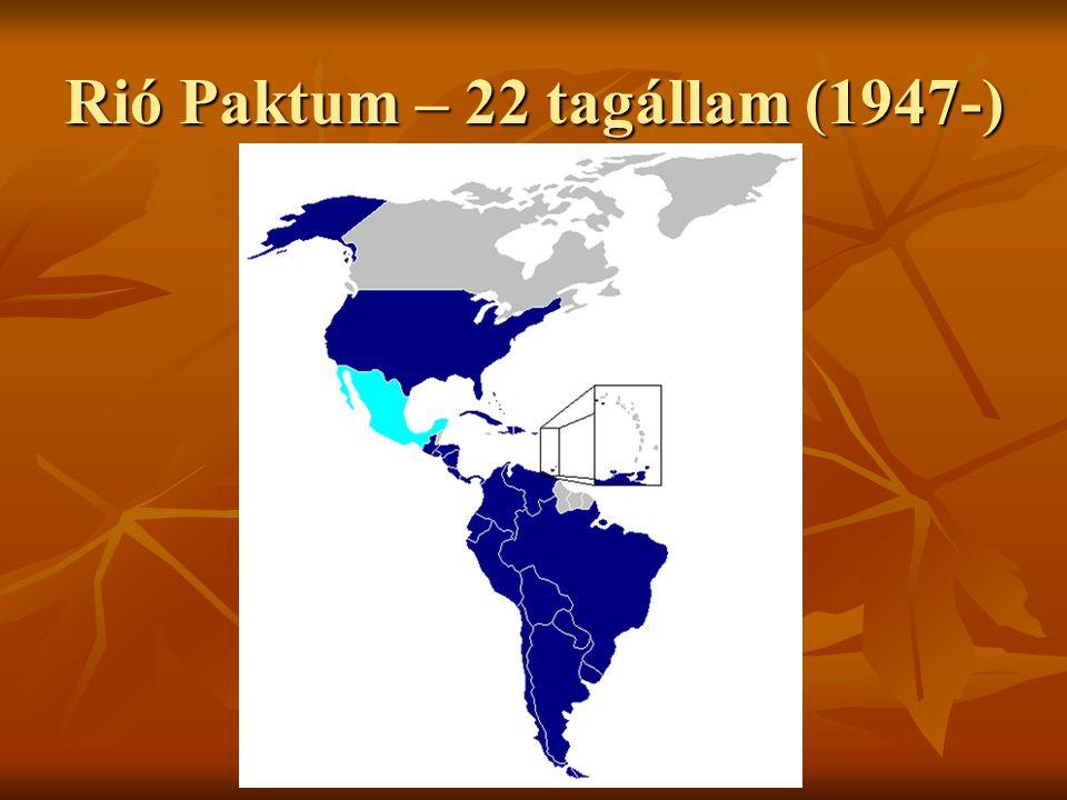 Rió Paktum – 22 tagállam (1947-)