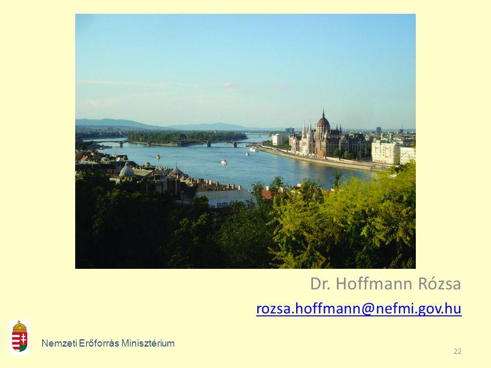 22 Dr. Hoffmann Rózsa rozsa.hoffmann@nefmi.gov.hu Nemzeti Erőforrás Minisztérium