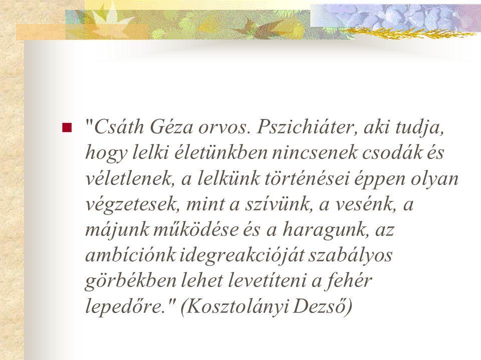  Csáth Géza orvos.