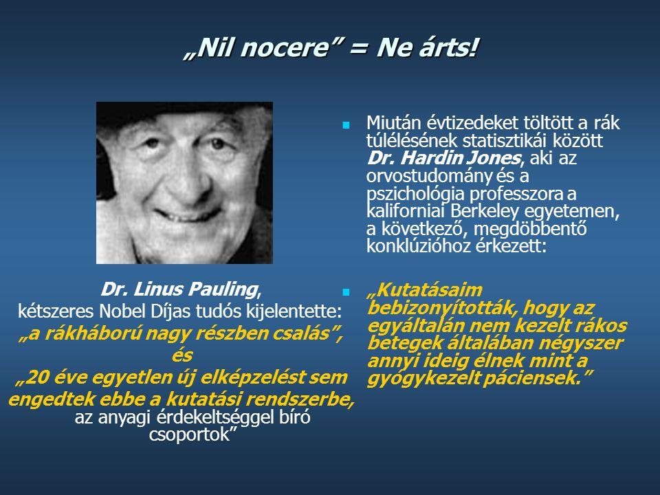 """""""Nil nocere"""" = Ne árts!  A rákbetegség kezelésének ma rendelkezésre álló három módozata közül – sebészeti beavatkozás, sugárterápia vagy kemoterápia"""