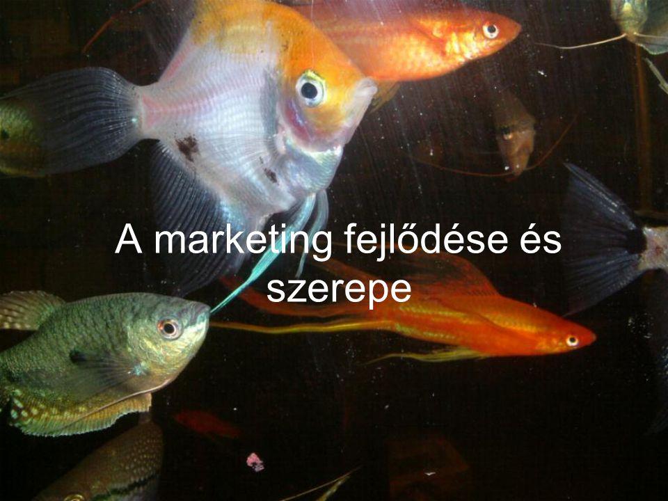 A marketing fejlődése és szerepe