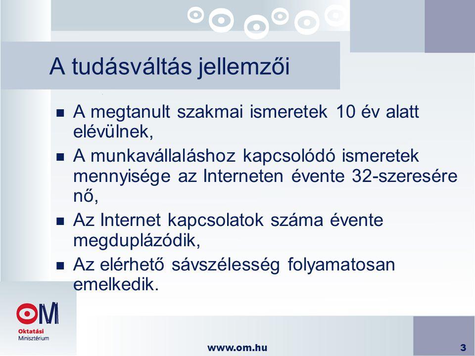 www.om.hu14 IKT eszközök az oktatásban n Helyi hálózatok kialakítása  2004 első félévében 300 wireless hálózat átadása a középiskolák számára az IHM által kiírt pályázat keretében.