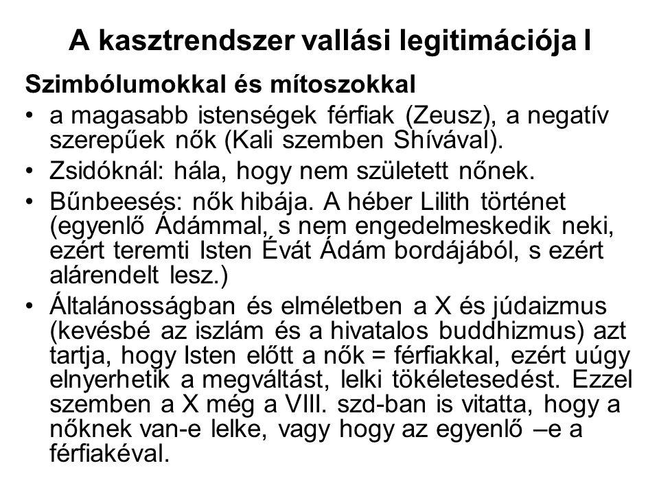 A kasztrendszer vallási legitimációja II.