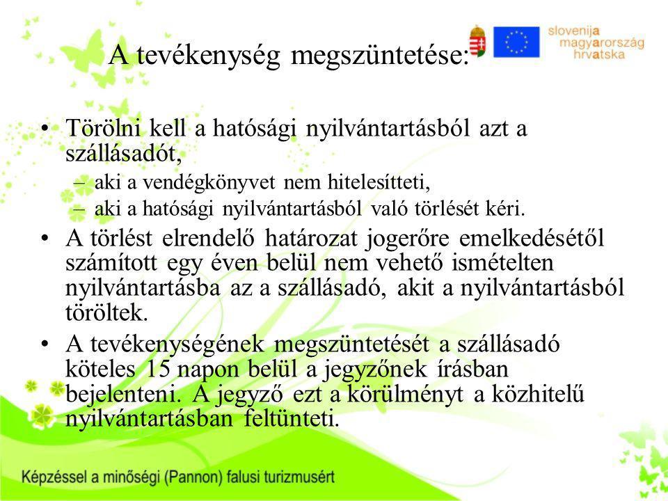 2.A falusi szálláshelyek minősítése 54/2003. (VIII.