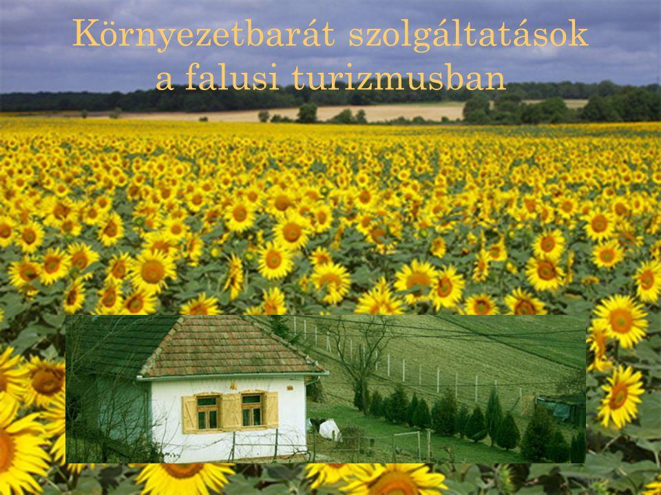 Falusi turizmus A falusi turizmus a nem kiemelt gyógy- és üdülőhelyeken, hanem a falusi és tanyai térségekben folytatott vendégfogadás, amely általában a vendéggel azonos épületben (tanyán) való együttlakás (együttélés) mellett valósul meg és magában foglalja a vendég részére rendszeresen nyújtott étkeztetés szolgáltatásait is.