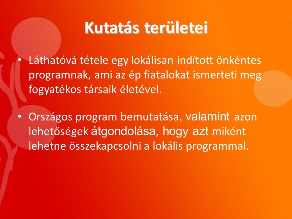 Helyi program • Önkéntes Klub Szekszárd: - 2007-ben született meg ebben a formában.