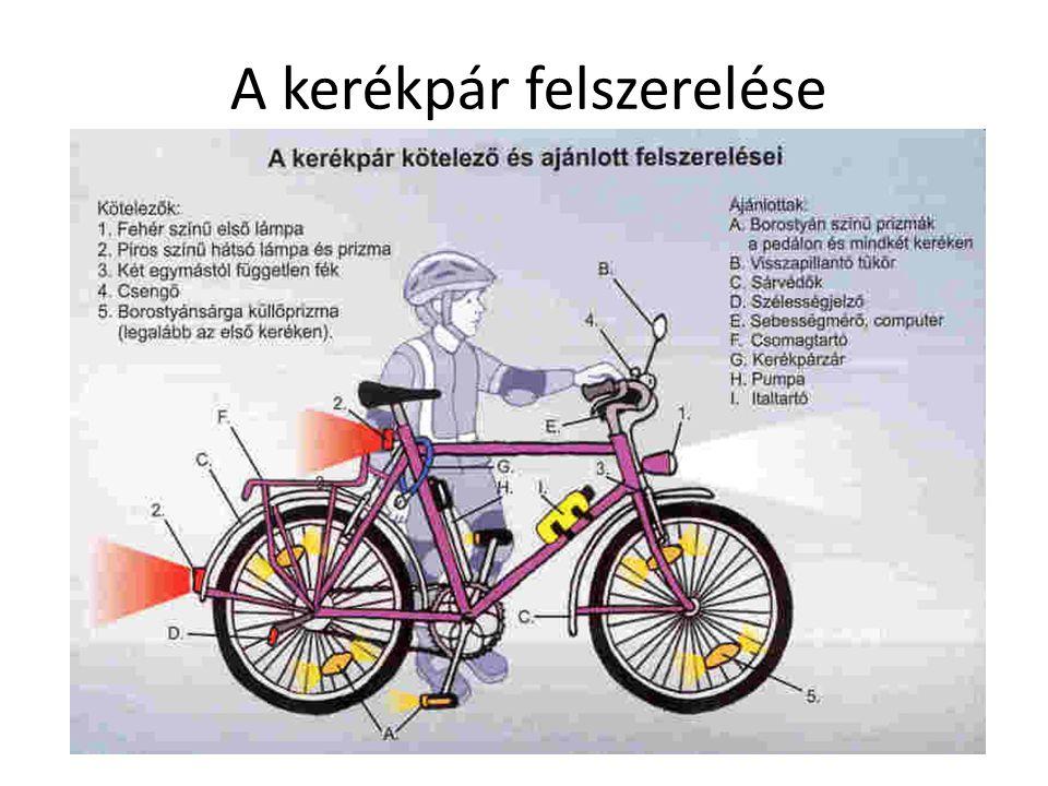 A kerékpár felszerelése