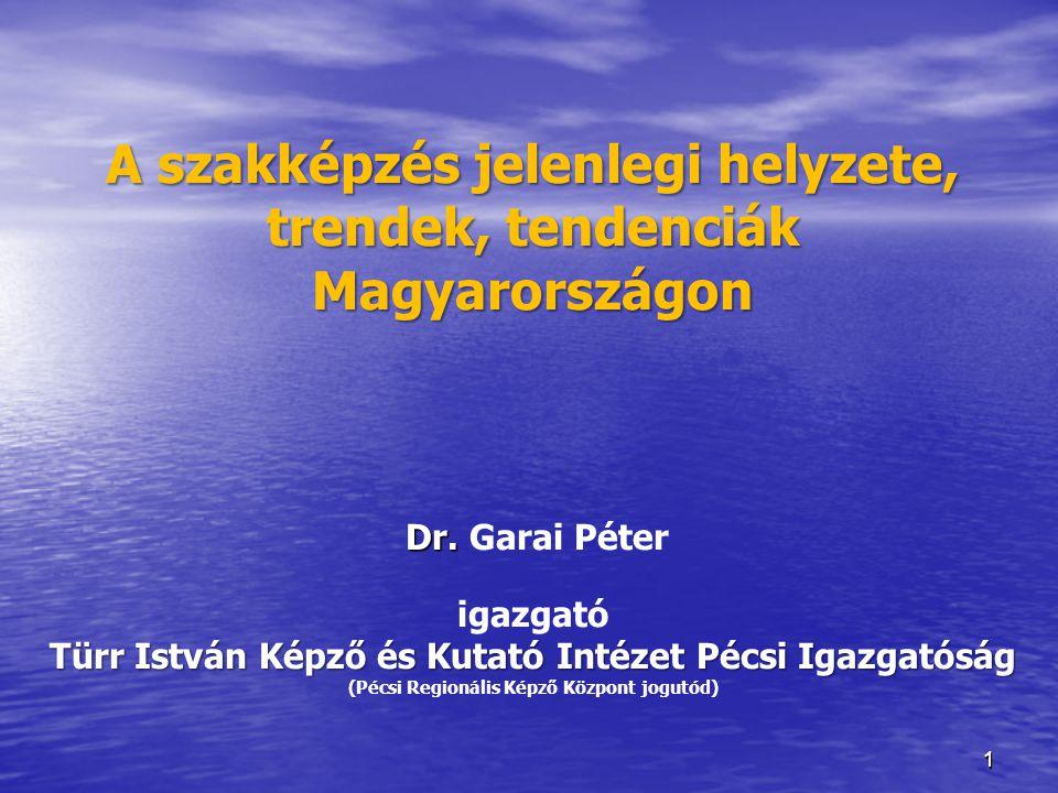 11 A szakképzés jelenlegi helyzete, trendek, tendenciák Magyarországon Dr. Türr István Képző és Kutató Intézet Pécsi Igazgatóság ( A szakképzés jelenl