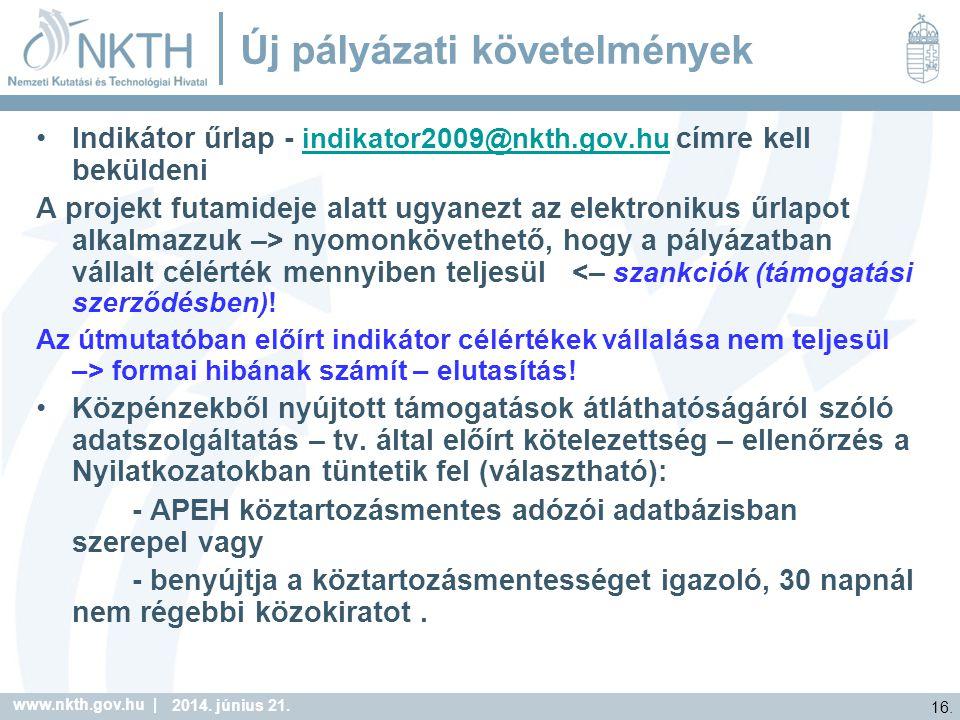 www.nkth.gov.hu | 16. 2014. június 21.
