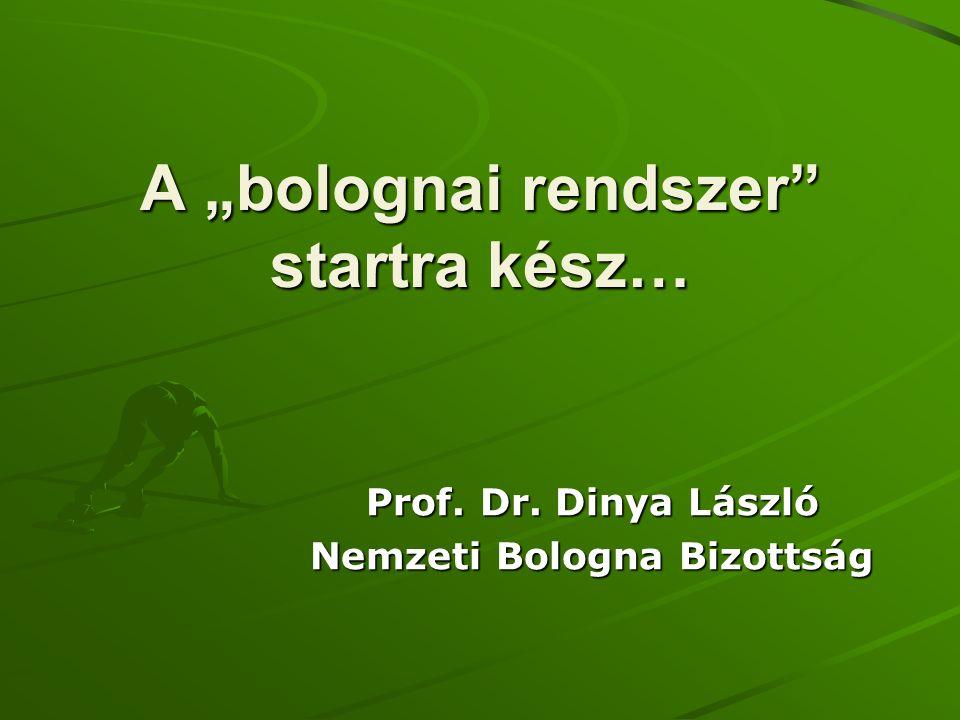 """A """"bolognai rendszer"""" startra kész… Prof. Dr. Dinya László Nemzeti Bologna Bizottság"""