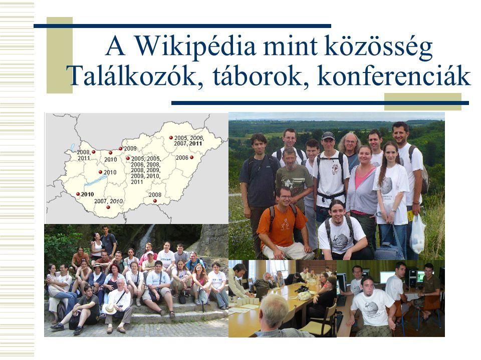 A Wikipédia mint közösség Találkozók, táborok, konferenciák