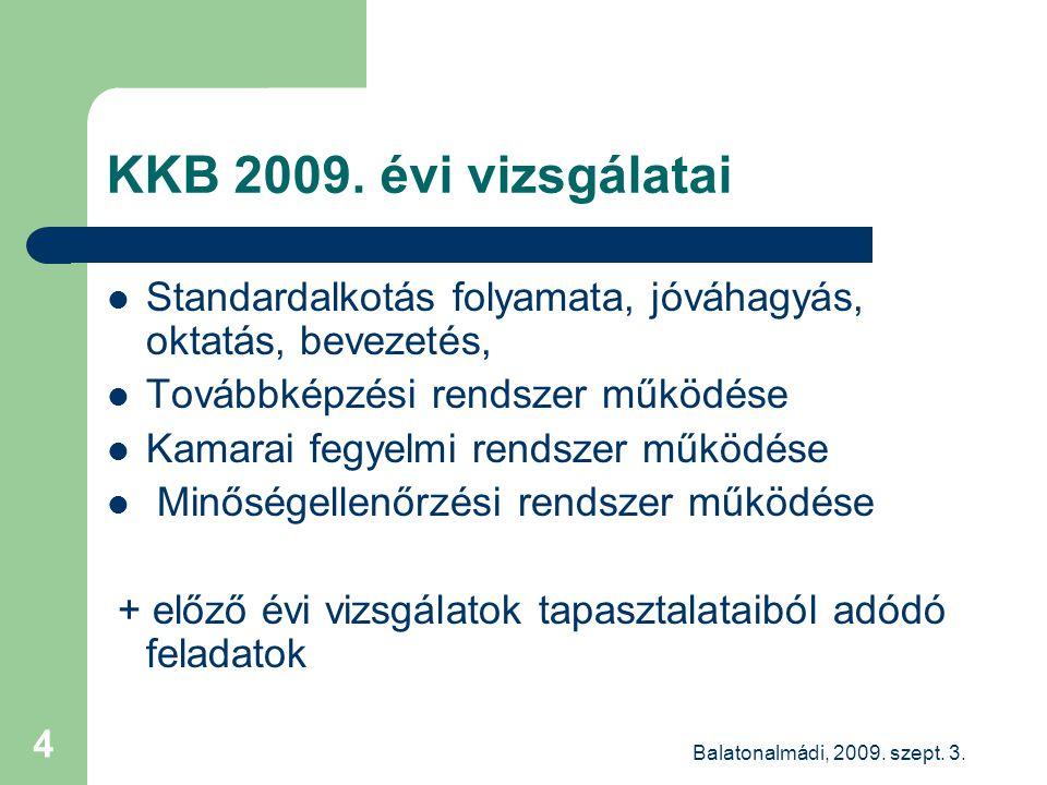 Balatonalmádi, 2009. szept. 3. 4 KKB 2009.