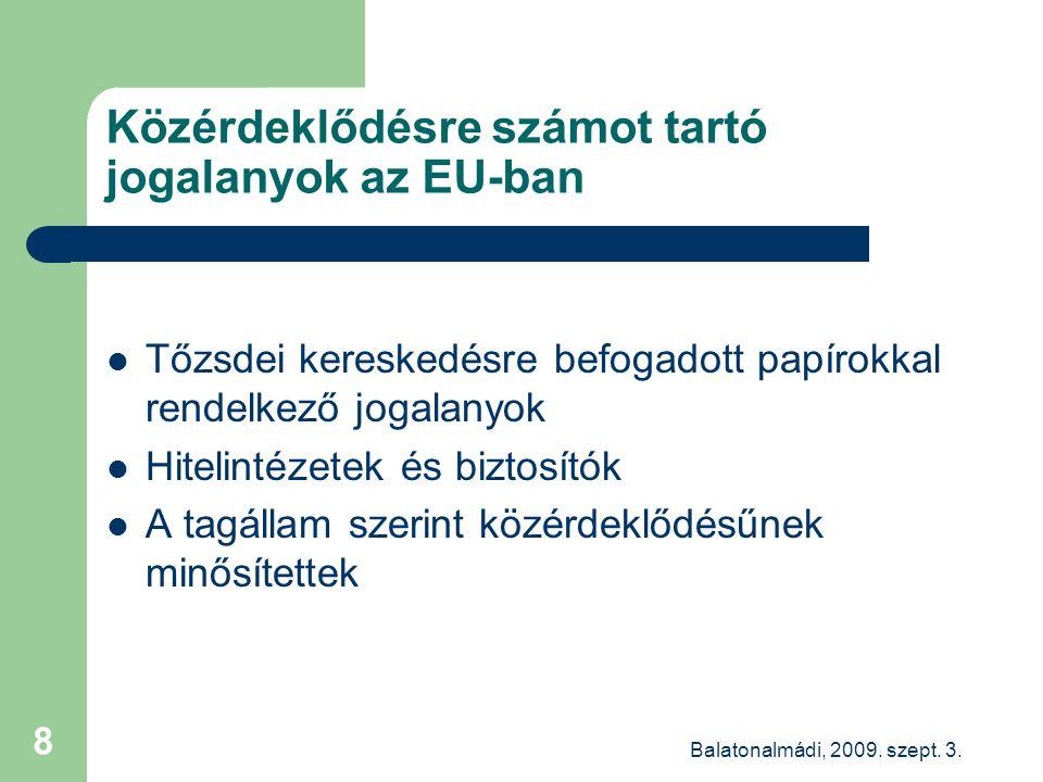 Balatonalmádi, 2009.szept. 3. 9 Közérdeklődés a KKt szerint 2.